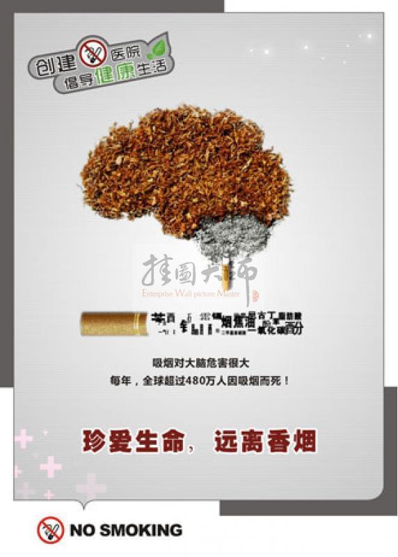 医院禁烟标志 医院禁止吸烟标语 医院禁烟