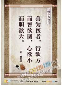 中医文化标语 中医格言宣传挂图