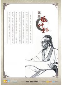 中医院文化墙 古代名医张仲景