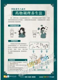 中医养生挂图 药物调理养生法