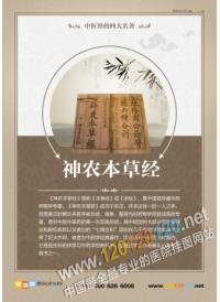 中医药文化图片中医院标语 神农本草经