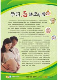 妇产科标语 孕妇忌缺乏叶酸