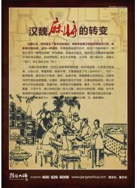 棋牌室宣传挂图 汉魏麻将的转变