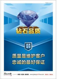 品质管理宣传画 品质宣传图片 钻石品质