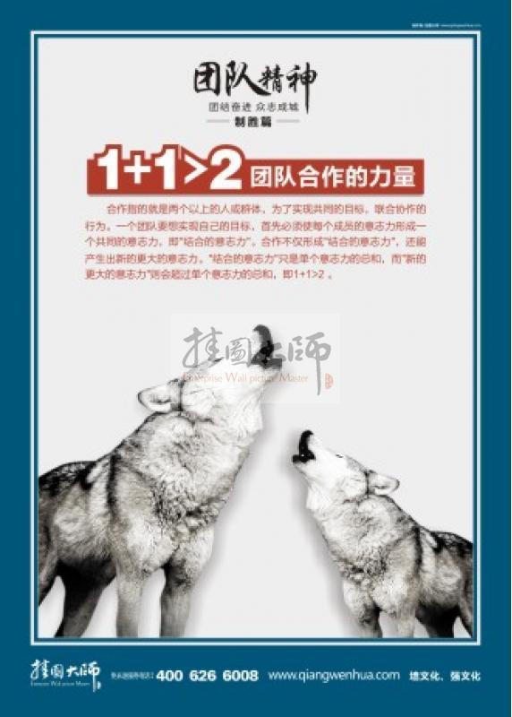 狼的合作精神|团队理念标语|企业团队文化标语