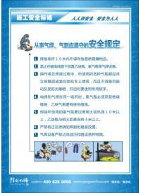 施工安全标语 从事气焊、气割应遵守的安全规定