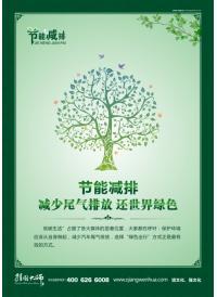 节能减排 减少尾气排放 还世界绿色  节能减排宣传标语
