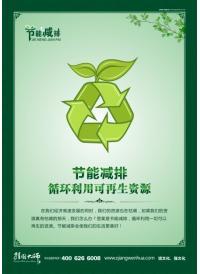 节能减排 循环利用可再生资源  节能减排标语口号