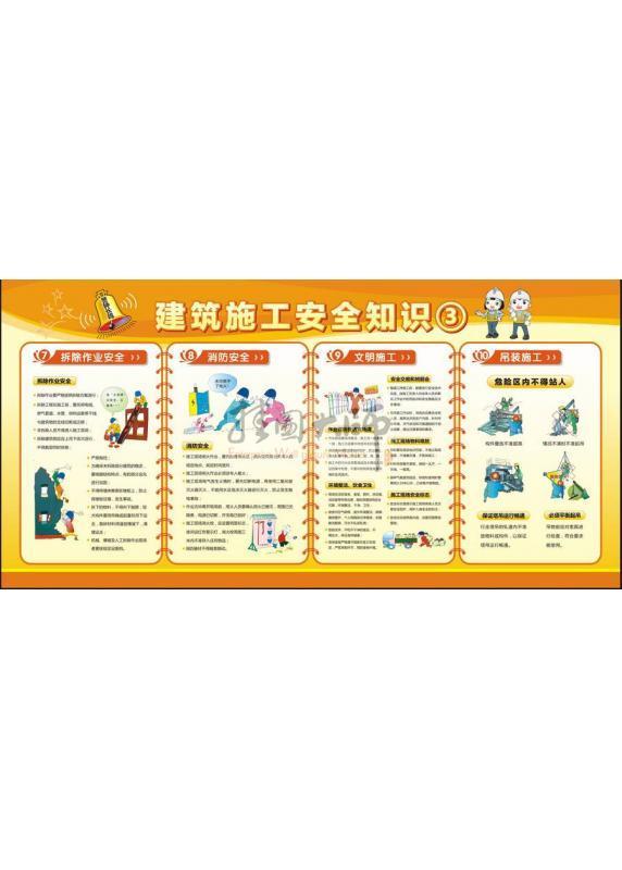 建筑工地安全教育安全知识展板建筑施工安全图片