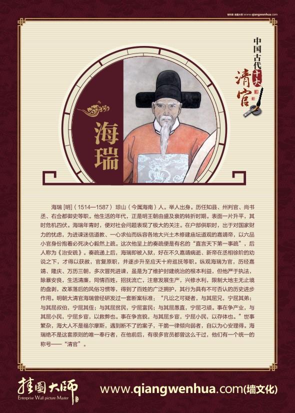廉政文化展板 中国古代十大清官