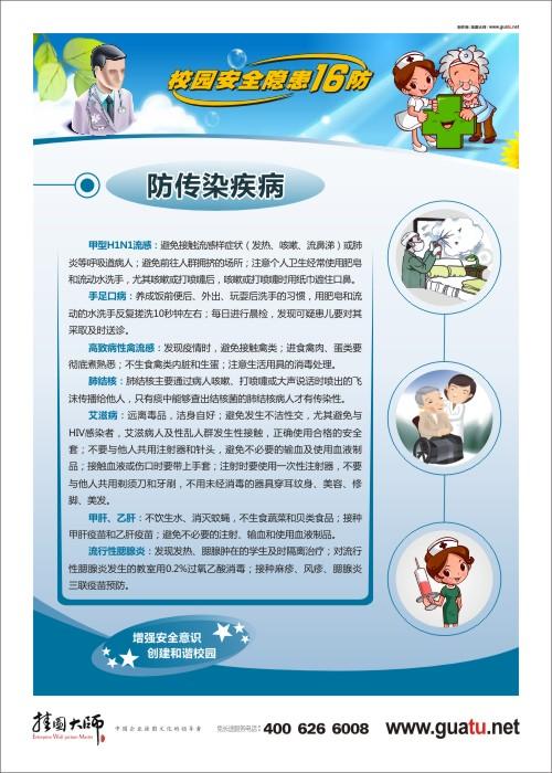 防传染疾病 校园安全宣传口号