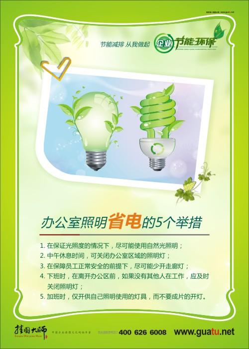 办公室照明省电的5个举措 企业节能环保标语