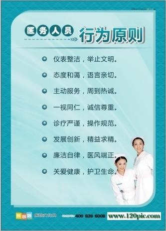 医务人员行为规范 医务人员行为准则 医务人员行为原则 医务人员管理制度