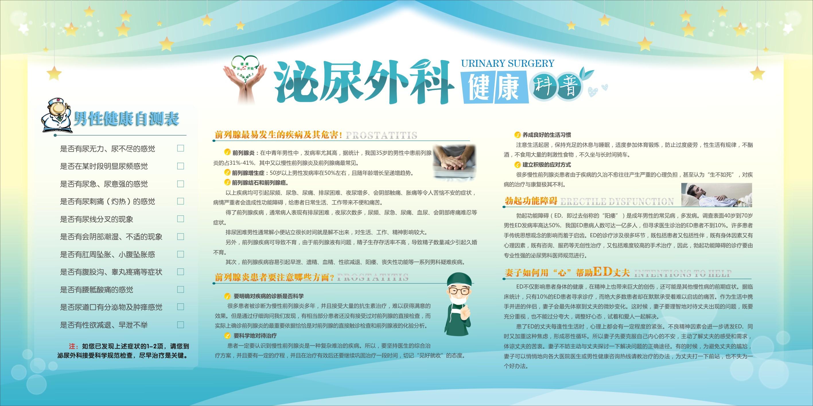 泌尿外科宣传栏 泌尿外科健康教育