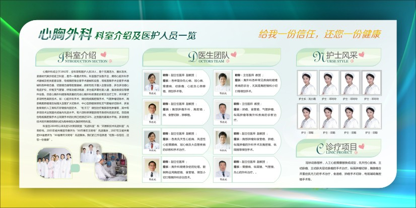 医院科室简介图片 心胸外科-科室介绍及医护人员一览